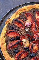 """Europe/France/Provence-Alpes-Côte d'Azur/84/Vaucluse/Menerbes: Tarte à la tomate - Recette de Nicolas Le Bec chef du restaurant """"La Bastide de Marie"""""""