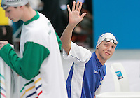 16 MAR 2006 - MELBOURNE, AUSTRALIA - Dave Carry (SCO) prepares for the start of his 400m Freestyle heat at the 2006 Commonwealth Games. (PHOTO (C) NIGEL FARROW)