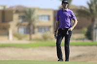 Sebastian Heisele (GER) on the 8th green during the 1st round of  the Saudi International powered by Softbank Investment Advisers, Royal Greens G&CC, King Abdullah Economic City,  Saudi Arabia. 30/01/2020<br /> Picture: Golffile | Fran Caffrey<br /> <br /> <br /> All photo usage must carry mandatory copyright credit (© Golffile | Fran Caffrey)