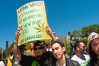Pot smokers gather in Union Square, for the 46th anniversary of the Million Marijuana March, rallying for legalization in New York