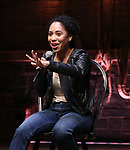 Erin Clemons  during the an eduHAM Q & A panel with the cast of Broadway's 'Hamilton' at The Richard Rodgers Theatre on May 23, 2018 in New York City.