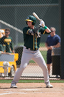 Oakland Athletics third baseman William Toffey (21) during a Minor League Spring Training game against the San Francisco Giants at Lew Wolff Training Complex on March 26, 2018 in Mesa, Arizona. (Zachary Lucy/Four Seam Images)
