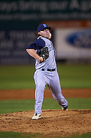 Brooklyn Cyclones pitcher P.J. Conlon (33) delivers a pitch during the first game of a doubleheader against the Connecticut Tigers on September 2, 2015 at Senator Thomas J. Dodd Memorial Stadium in Norwich, Connecticut.  Brooklyn defeated Connecticut 7-1.  (Mike Janes/Four Seam Images)