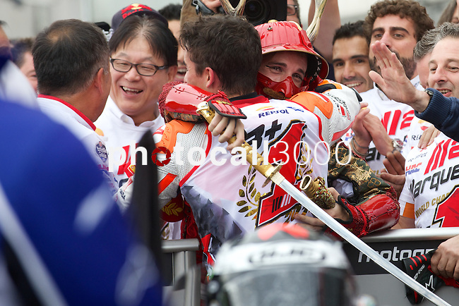 GP Moto of Japan during the Moto World Championship 2014 in Motegi.<br /> MotoGP<br /> marc marquez<br /> Rafa Marrodán/PHOTOCALL3000