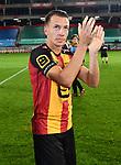 2018-08-27 / Voetbal / Seizoen 2018-2019 / KV Mechelen - Albert Quevy Mons / Cl&eacute;ment Tainmont viert de overwinning<br /> <br /> ,Foto: Mpics