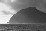 Imposing view of Hutchison Bluff during a storm, Raoul Island, Kermdecs.
