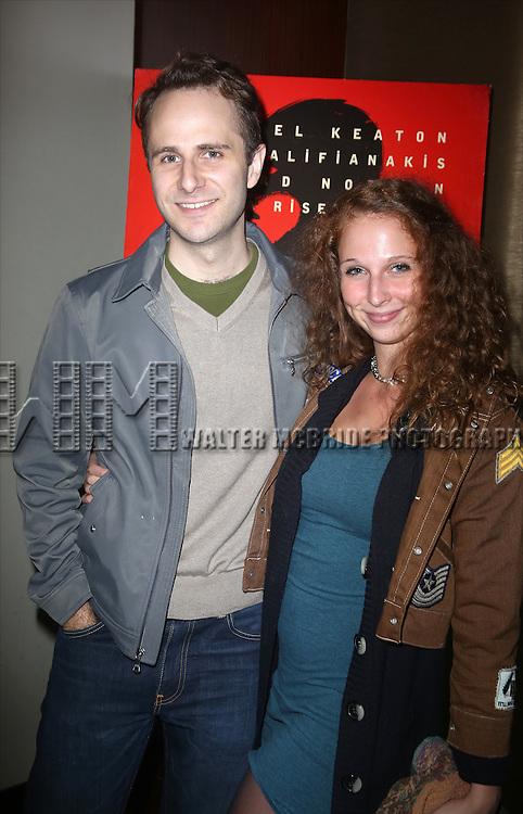 Matt Harrington and girlfriend attends the Broadway Industry Screening of 'Birdman' at Dolby 88 on October 13, 2014 in New York City.