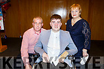 Overall winner Ian O'Connell from Spa Killarney with his parents Mike and Nora at the Garda Youth Achievement Award in Ballyroe Heights Hotel on Friday night.