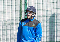 Picture by Allan McKenzie/SWpix.com - 05/04/2018 - Cricket - Yorkshire County Cricket Club Training - Headingley Cricket Ground, Leeds, England - David Willey bats in the nets.