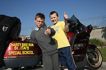 Dylan McKenna with John Everitt at the Start of the Run of the Country Motorcycle Run at St.Itas School...Photo NEWSFILE/Jenny Matthews.(Photo credit should read Jenny Matthews/NEWSFILE)....This Picture has been sent you under the condtions enclosed by:.Newsfile Ltd..The Studio,.Millmount Abbey,.Drogheda,.Co Meath..Ireland..Tel: +353(0)41-9871240.Fax: +353(0)41-9871260.GSM: +353(0)86-2500958.email: pictures@newsfile.ie.www.newsfile.ie.FTP: 193.120.102.198.