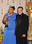 HOLLYWOOD, CA. - March 07: Actors Monique and Robin Williams pose in the press room at the 82nd Annual Academy Awards held at the Kodak Theatre on March 7, 2010 in Hollywood, California.