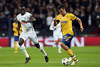 Davinson Sanchez of Tottenham Hotspur and Paulo Dybala of Juventus during Tottenham Hotspur vs Juventus, UEFA Champions League Football at Wembley Stadium on 7th March 2018