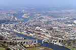An ariel view of Drogheda with the new Boyne bridge in the background and the Boyne viaduct in the foreground.Photo Fran Caffrey/Newsfile.ie..This picture has been sent to you by:.Newsfile Ltd,.3 The View,.Millmount Abbey,.Drogheda,.Co Meath..Ireland..Tel: +353-41-9871240.Fax: +353-41-9871260.GSM: +353-86-2500958.ISDN: +353-41-9871010.IP: 193.120.102.198.www.newsfile.ie..email: pictures@newsfile.ie..This picture has been sent by Fran Caffrey.francaffrey@newsfile.ie