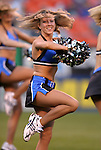 1 May 2004: The Wizards Girls, the Wizards' cheerleaders, perform before the game. The Kansas City Wizards defeated the Colorado Rapids at Arrowhead Stadium in Kansas City, MO in a regular season Major League Soccer game..