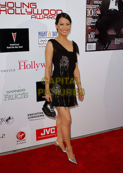 LUCY LIU.Arriving @ The AMC and Movieline's Hollywood Life Magazine Young Hollywood Awards held at The El Rey                       .little black dress, full length, full-length.www.capitalpictures.com.sales@capitalpictures.com.©Capital Pictures