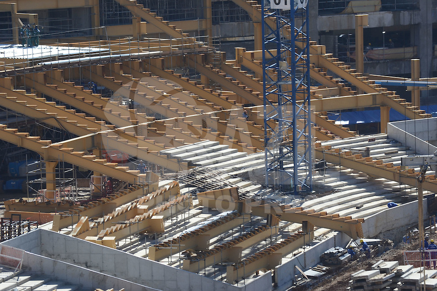 RIO DE JANEIRO-11/06/2012-Obras do estadio do Maracana, na zona norte do Rio.Foto:Marcelo Fonseca-Brazil Photo Press
