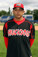 August 26 2008:  Pitcher Rigoberto Lugo of the Batavia Muckdogs, Class-A affiliate of the St. Louis Cardinals, during a game at Dwyer Stadium in Batavia, NY.  Photo by:  Mike Janes/Four Seam Images