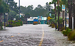 SAINT MARKS, FL - OCTOBER 10: The town of Saint Marks goes underwater as Hurricane Michael pushes the storm surge up the Wakulla and Saint Marks Rivers which come together here on October 10, 2018 in Saint Marks, Florida. (Photo by Mark Wallheiser/Getty Images)