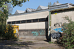 23/04/2015 Disused industrial building, Saxonvale, Frome, Somerset, UK.<br /> <br /> Photo &copy; Tim Gander. All rights reserved. For licensing enquiries, please contact tim@timgander.co.uk or call 07703 124412.