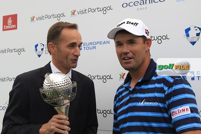 Padraig Harrington (IRL) wins the tournament by 1 shot with a score of -23 at the end of Sunday's Final Round of the 2016 Portugal Masters held at the Oceanico Victoria Golf Course, Vilamoura, Algarve, Portugal. 23rd October 2016.<br /> Picture: Eoin Clarke | Golffile<br /> <br /> <br /> All photos usage must carry mandatory copyright credit (&copy; Golffile | Eoin Clarke)
