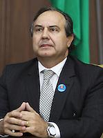 SAO PAULO, SP, 18 MARCO 2013 - ASSINATURA CONVENIO ATIVIDADE  DELEGADA -  O Secretario de Seguranca do Estado Fernando Grella participa da assinatura do convenio de atividade delegada, um convenio que acrescenta novas atribuicoes a parceria da atividade delegada, firmada em 2009 pelo Governo do Estado e a  Prefeitura de SP  no palacio Bandeirantes nessa segunda 18. (FOTO: LEVY RIBEIRO / BRAZIL PHOTO PRESS)