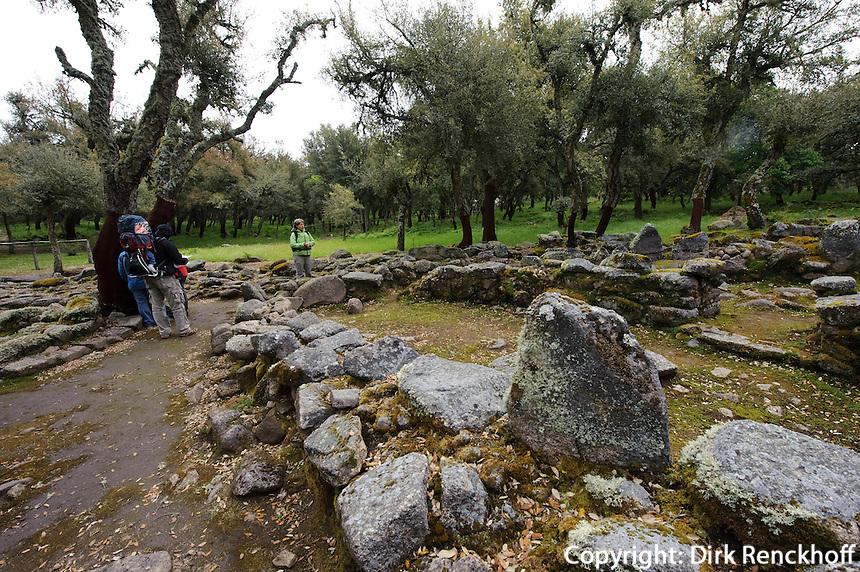 Brunnenheiligtum im Nuraghendorf Su Romanzesu bei Bitti, , Provinz Nuoro, Inner- Sardinien, Italien, Nuraghen-Kultur 2. Jt. v.Chr.