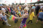 Electric Fields music festival at Drumlanrig Castle, Dumfries and Gallloway Scotland. Colonnel Mustard spuring audience on to dance
