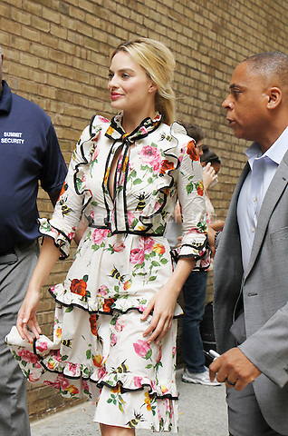 NEW YORK, NY-July 28: Margot Robbie at Live with Kelly to talk about her new movie Suiide Squad and signing for fansin New York. NY July 28, 2016. Credit:RW/MediaPunch