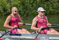Henley Royal Regatta, Henley on Thames, Oxfordshire, 28 June - 2 July 2017.  Friday  10:51:44   30/06/2017  [Mandatory Credit/Intersport Images]<br /> <br /> Rowing, Henley Reach, Henley Royal Regatta.<br /> <br /> The Double Sculls Challenge Cup<br />  S.J. Woodfine &amp; H. Bond (Vesta Rowing Club)