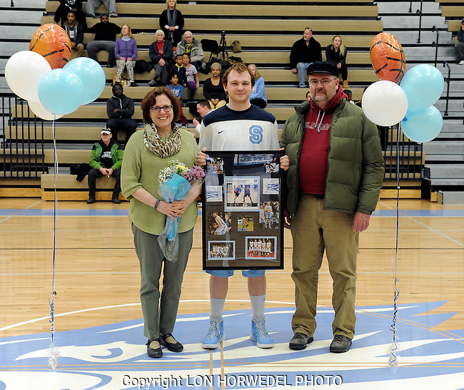 "Skyline High School vs Warren Woods Tower High School boy's basketball ""Senior Night"" at Skyline, Thursday, March 5, 2015."