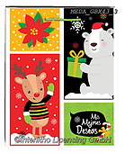 Dreams, CHRISTMAS ANIMALS, WEIHNACHTEN TIERE, NAVIDAD ANIMALES, paintings+++++,MEDAGBX43/3,#XA# ,sticker,stickers