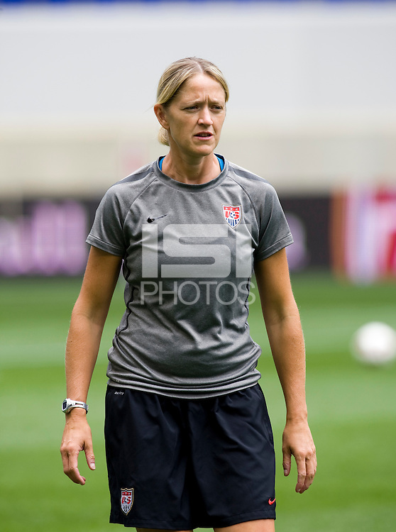 Dawn Scott. The USWNT defeated Mexico, 1-0, during the game at Red Bull Arena in Harrison, NJ.
