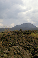 Lava fields and the cone of Volcan Paricutin, Michoacan, Mexico