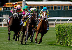 June 8, 2019 : #4, Rushing Fall, ridden by jockey Javier Castellano, wins the Longines Just a Games Stakes on Belmont Stakes Festival Saturday at Belmont Park in Elmont, New York. Dan Heary/Eclipse Sportswire/CSM