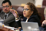 Nevada Assemblywoman Dina Neal, D-North Las Vegas, works in a committee hearing at the Legislative Building in Carson City, Nev., on Tuesday, Feb. 3, 2015. <br /> Photo by Cathleen Allison