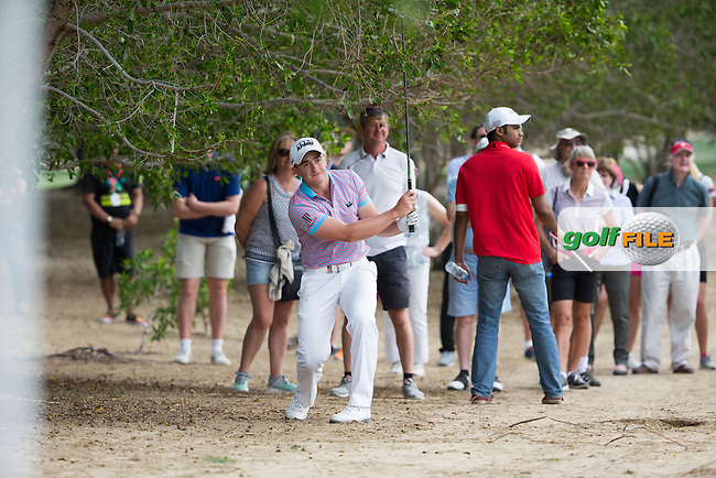 Paul Dunne (IRL) on the 8th during the final round of the Abu Dhabi HSBC Championship, Abu Dhabi Golf Club, Abu Dhabi,  United Arab Emirates. 22/01/2017<br /> Picture: Golffile | Fran Caffrey<br /> <br /> <br /> All photo usage must carry mandatory copyright credit (&copy; Golffile | Fran Caffrey)
