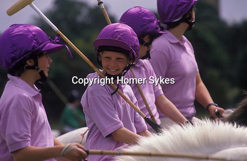 Polo Camp summer pony club week long polo camp. Lingfield Surrey England.