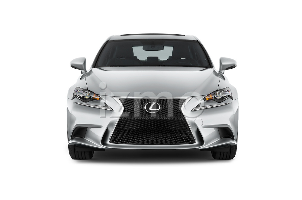 Car photography straight front view of a 2015 Lexus LS 350 F Sport 4 Door Sedan Front View