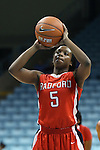 05 December 2012: Radford's Ayana Avery. The University of North Carolina Tar Heels played the Radford University Highlanders at Carmichael Arena in Chapel Hill, North Carolina in an NCAA Division I Women's Basketball game. UNC won the game 64-44.