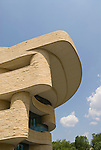 Washington DC; USA:  National Museum of the American Indian, inspiring new architecture on the Mall..Photo copyright Lee Foster Photo # 12-washdc83294