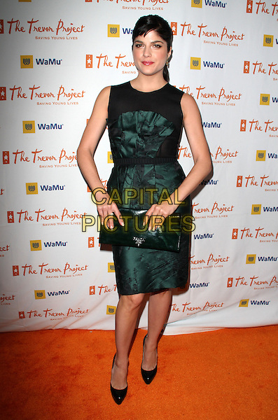 "SELMA BLAIR .11th Annual Trevor Project's ""Cracked XMas"" Benefit at the Wiltern Theatre, Los Angeles, California, USA..December 7th, 2008.full length black green tank sleeveless bustier strapless dress shoes heels tie christian louboutin heels top skirt platforms clutch bag.CAP/ADM/KB.©Kevan Brooks/AdMedia/Capital Pictures."