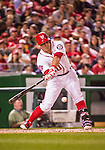 22 May 2015: Washington Nationals catcher Wilson Ramos in action against the Philadelphia Phillies at Nationals Park in Washington, DC. The Nationals defeated the Phillies 2-1 in the first game of their 3-game weekend series. Mandatory Credit: Ed Wolfstein Photo *** RAW (NEF) Image File Available ***