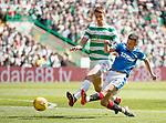 29.04.18 Celtic v Rangers: Jason Holt shoots past Kristoffer Ajer
