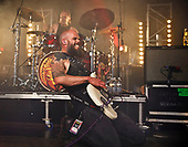 BARONESS - drummer Sebastian Thomson and vocalist John Baizley - performing live on Day 3 Sunday at the 2018 Download Festival in Donington Park Castle Donington UK - 19 Jun 2018.  Photo credit: Paul Harries/IconicPix