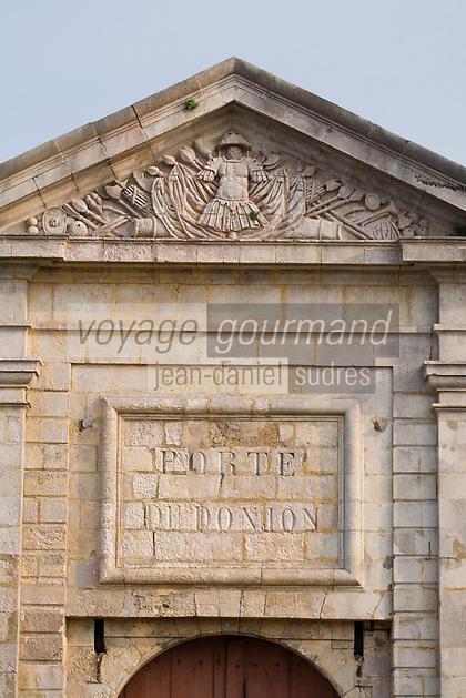 Europe/France/Bretagne/56/Morbihan/Belle-Ile / Le Palais: Détail de la porte de la citadelle construite par Vauban