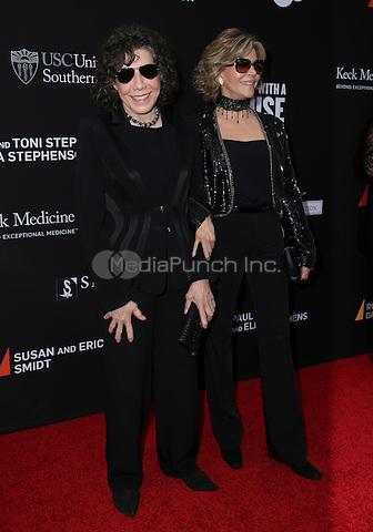 SANTA MONICA, CA - MAY 11: Lily Tomlin, Jane Fonda arrives at the 3rd Biennial Rebels With A Cause Fundraiser at Barker Hangar on May 11, 2016 in Santa Monica, California.  Credit: Parisa/MediaPunch.