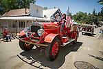 Independence Day celebration Main Street, Mokelumne Hill, California..Moke Hill Fire Department