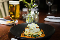 A tasty Salt Cod and Cous Cous dish served with delicious Craft Ale at the Ruddington Arms