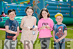 Enjoying the Active Kingdom Family Fun Day in aid of Make a Wish Foundation at the John Mitchels sports Complex on Sunday were Kieran Doyle, Saoirse Doyle, michala Roche and Ger Roche