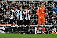 Ayoze Perez of Newcastle United celebrates scoring his second goa during Newcastle United vs Luton Town, Emirates FA Cup Football at St. James' Park on 6th January 2018